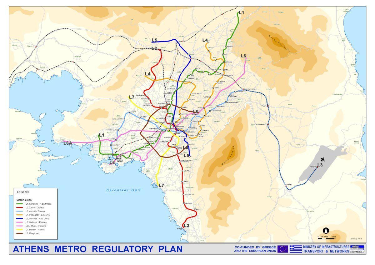 Carte du Métro Athènes